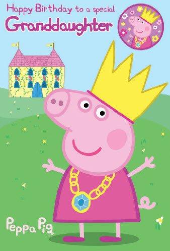 Peppa Pig Granddaughter Birthday Card [Toy]
