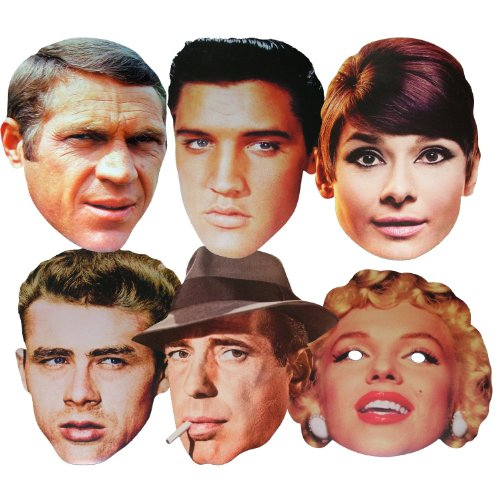 Hollywood Stars - MULTIPACK - Celebrity Face Masks