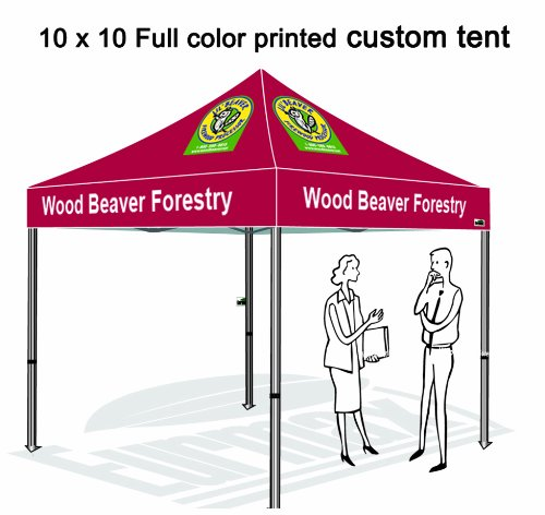 Eurmax 10 X 10 Custom Canopy Fair Tent High Commerical Grade Custom Canopy Pop Up Canopy Full Aluminum Canopy Frame With Full Color Printed Logo front-1071861