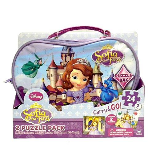 Disney Princess Sofia the First Carry and Go Bag with 2 Puzzles - 1