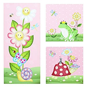 Fantasy Fields Magic Garden Canvas Wall Art - 3 Piece Set