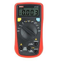 Constructan(TM) UNI-T UT136C W/ Temperature Test LCR Meter Scientific & High Accuracy Data Hold Handheld Auto-ranging Digital Multimeters