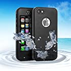 Bovon Waterproof Case for iPod touch 5, Waterproof Shockproof Dirtproof Snowproof Case Cover with Kickstand For Apple iPod touch 5th Generation (Black)