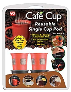 Spark Innovators Cafe Cup Reusable Coffee Pod Black/Red