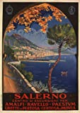 SALERNO Italy - Vintage Italian Travel Poster by Vincenzo Alicandri 1926 A3 Matte Finish (297 x 420mm)