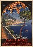 SALERNO Italy - Vintage Italian Travel Poster by Vincenzo Alicandri 1926 A2 Matte Finish (420 x 594mm)