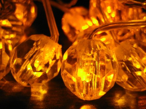 crystal amber led string lights led christmas lights indoor outdoor party lights