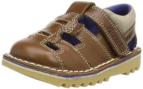 Kickers Kick Sundal Leather Infant Tan - Sandali Bambino, colore marrone (tan), taglia 30 EU (12 Child UK)
