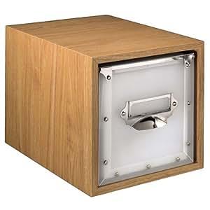hama cd dvd blu ray box macchiato holz. Black Bedroom Furniture Sets. Home Design Ideas