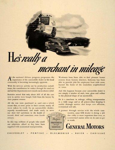 1941 Ad General Motors Gm Car Dealers National Defense - Original Print Ad