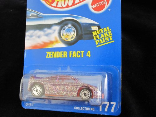 Hot Wheels Zender Fact 4 #177 All Blue Card Purple Flake with Ultra Hot Wheels - 1