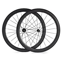 BaiXiang 700C 25mm Width Ultra Light 50mm Road Bike Carbon Clincher Wheels for Shimano