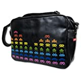 Skyline Space Invader Retro Reporter Bag - Black Classic Shoulder Satchelby Skyline