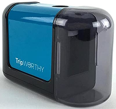 Electric Pencil Sharpener - Battery Operated (NO CORD!) - Ideal For No. 2 And Colored Pencils (Drawing, Coloring) - Small And Durable - Kid Friendly - Great For Artist , Students , and Professionals