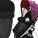 Deluxe Universal Footmuff to fit Petite Star Zia 3 Wheeler - black
