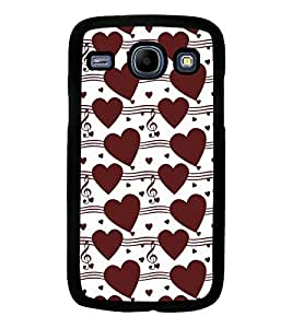Fuson Premium Musical Heart Metal Printed with Hard Plastic Back Case Cover for Samsung Galaxy Core i8260 i8262