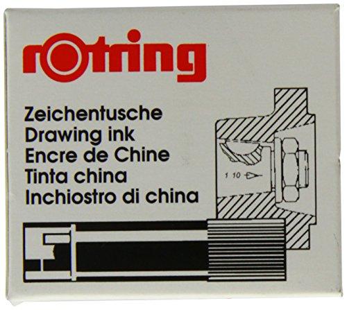 Rotring Isograph Boîte de 5 Cartouches Encre de Chine Noir