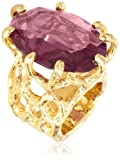 Trina Turk Amethyst Branch Gold Plated Ring, Size 7