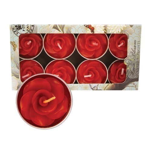 8-handmade-fairtrade-scented-red-rose-tealight-candle-set