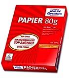 Avery Zweckform 2575 Drucker- und Kopierpapier A4, 80 g/m², 500 Blatt, alle Drucker, weiß (Optimierte Schutzverpackung)