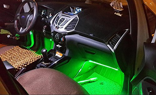 lenofocus car underdash light sound control 7 color changing led 12v car auto interior. Black Bedroom Furniture Sets. Home Design Ideas