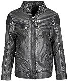 Urban Republic Little Boys Trendy PU Leather Moto Spring Jacket