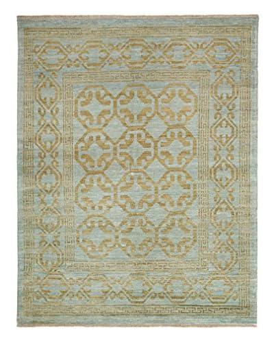 Solo Rugs Fine Oushak Oriental Rug, Blue, 5' 3 x 6' 8
