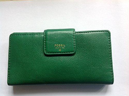 Fossil Gift portafoglio pelle 17 cm fir green