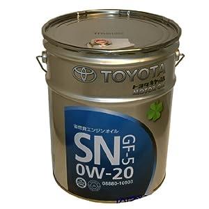 【クリックで詳細表示】☆トヨタ純正キャッスル エンジンオイル SN 0W-20 20L▽08880-10503