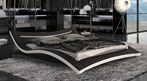 Premium Design Lederbett 180 x 200cm mit LED Beleuchtung online kaufen
