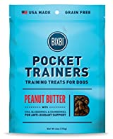 BIXBI POCKET TRAINERS Dogs Treats Obedience PEANUT BUTTER Portable Small 6oz Bag