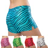 Pizzazz Red Zebra Glitter Dance Shorts Girl 6-8