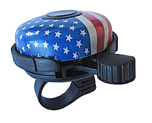 Bicycle Bell Alloy American usa Flag by Biria