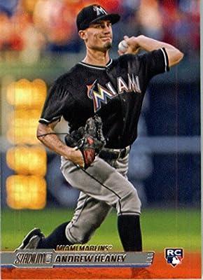 2014 Topps Stadium Club Baseball Card # 55 Andrew Heaney Miami Marlins RC