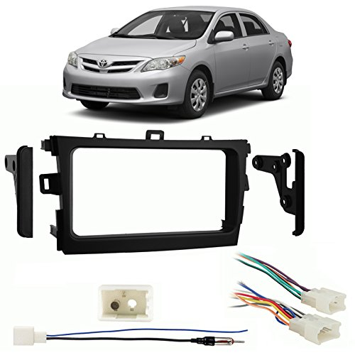 Fits Toyota Corolla 2012-2013 Double DIN Harness Radio Install Dash Kit (Toyota Corolla 2009 Double Din compare prices)