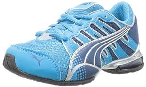 PUMA Voltaic 3 Jr Running Shoe (Little Kid/Big Kid),Ocean/Poseidon/Silver,6 M US Big Kid