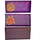 Odishabazaar Envelope With Rose Printed 3-D Set Pack Of 1pc