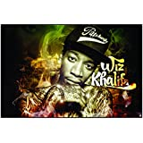 Paper Plane Design High Qualit Wiz Khalifa Poster(18 X 12 ) Inch.Delivered In Free Re-usable Solid Cardboard Tube...
