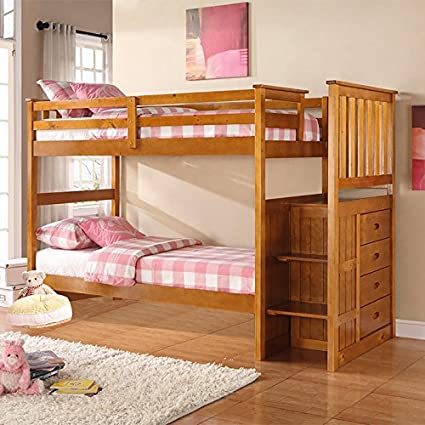 Boraam 97521 Bunk Bed, Twin and Twin, Fruitwood