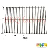 bbq factory Replacement Stainless Steel Rod Cooking Grid/Cooking Grates Set of 2 for Select Gas Grill Models By Weber 7521, Lowes Model Grills and Others