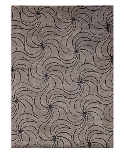 Swirl Rug, Grey, 5' x 8'