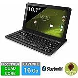 "Logicom Lement_Tab_1040_BTK 16GO Tablette tactile 10,1"" (25,65 cm) (16 Go, Android KitKat 4.4, 1 Port USB 2.0, 1 Prise jack, Noir) + Clavier Bluetooth"