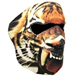 New Half Face Motorcycle Snowmobile Snowboard Ski Balaclava Face Mask Tiger Black