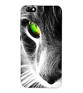 ColourCraft Scary Cat Look Design Back Case Cover for HUAWEI HONOR 4X