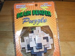 Brain Benders - Mind Bending Wooden Puzzle - One Varied Puzzle