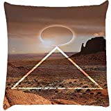 Snoogg eclipse zoyd Digitally Printed Cushion Cover throw pillows 14 x 14 Inch