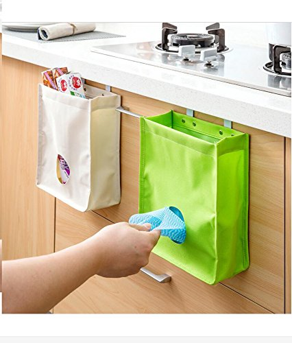Plastic bag dispenser Reusable grocery bag organizer bag holder(White) (Green) (Plastic Bag Dispenser Cloth compare prices)