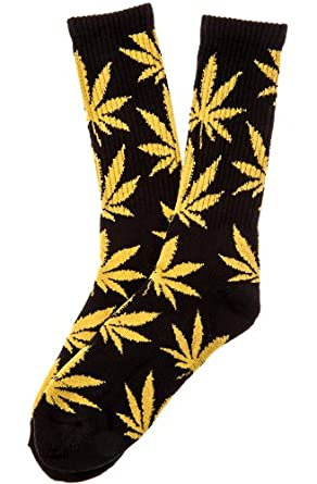 HUF Men's Plantlife Socks One Size Black