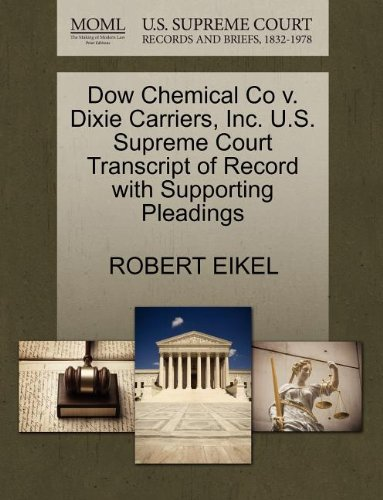 dow-chemical-co-v-dixie-carriers-inc-us-supreme-court-transcript-of-record-with-supporting-pleadings