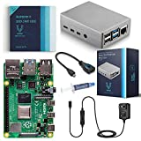 Vilros Raspberry Pi 4 Basic Starter Kit with Heavy Duty Self Cooling Aluminum Alloy Case (4GB Silver Case) (Color: Silver Case, Tamaño: 4GB)